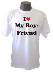 Camiseta I Love My Boyfriend