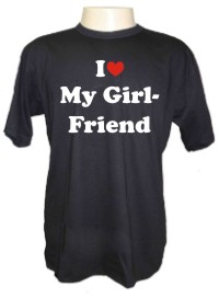 Camiseta I Love My Girlfriend